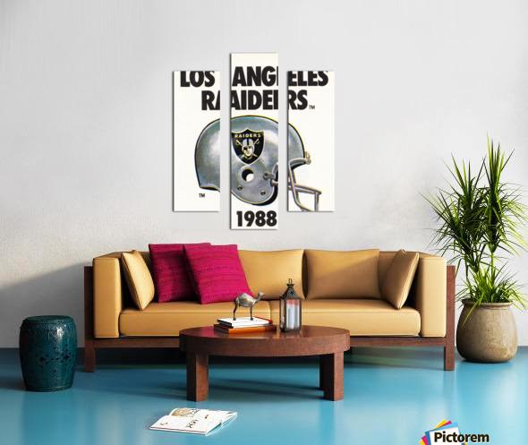 1988 Los Angeles Raiders Helmet Art Canvas print
