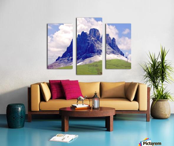 Mountain Peak in the Swiss Alps Canvas print