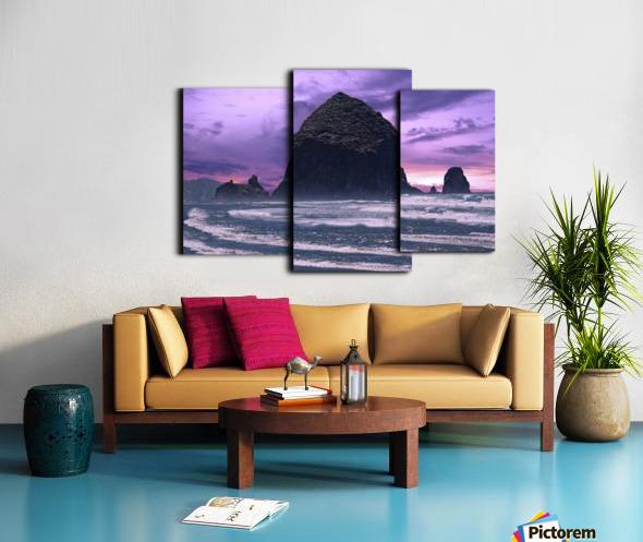 Cannon Beach at Sunset Canvas print