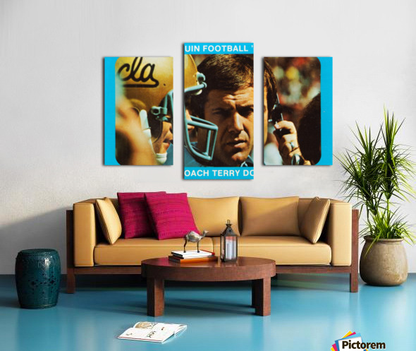 1977 UCLA Bruins Terry Donahue Football Poster Canvas print
