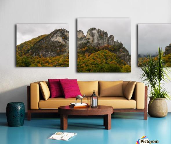 Seneca Rocks apmi 1884 Canvas print