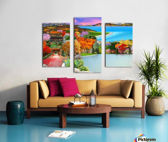 ASIAN HOME Canvas print