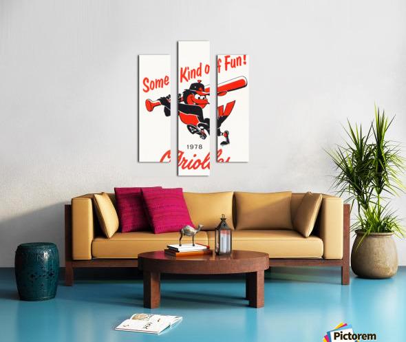 1978 Baltimore Orioles Some Kind of Fun Poster Impression sur toile