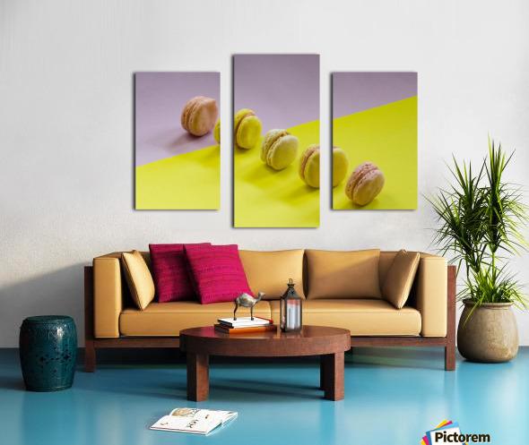 food macaroon photography Canvas print