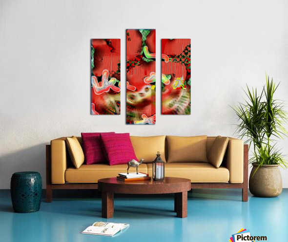 Residents of a Growling Stomach Canvas print