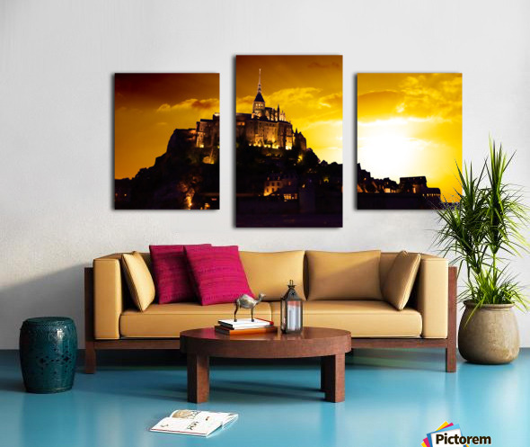 Majestic Mount Saint Michael Panorama Canvas print