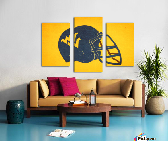 1985 West Virginia Mountaineers Football Helmet Art Canvas print