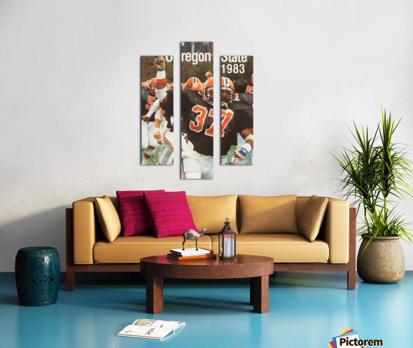 1983 Oregon State Beavers Football Poster Canvas print