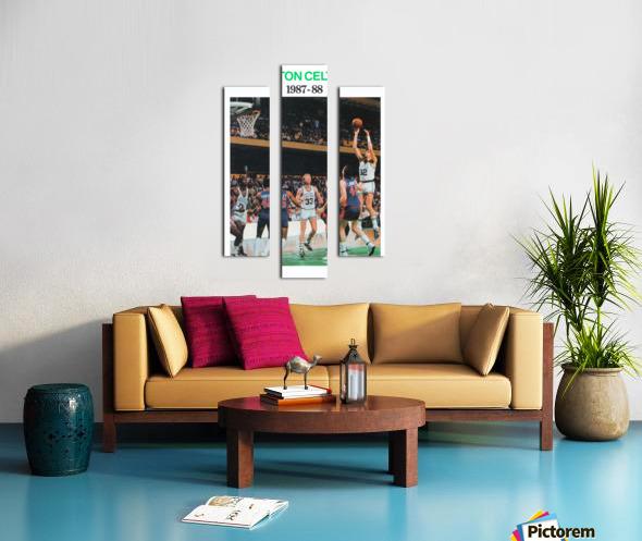1987 Boston Celtics Larry Bird Poster Canvas print