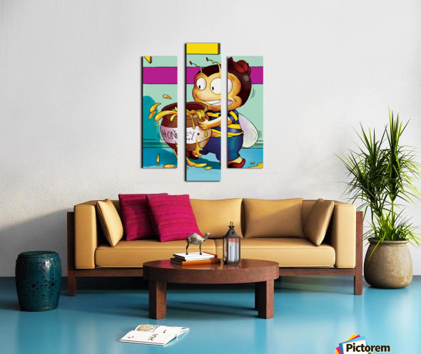 Be Careful with the Honey Buster Bee Canvas print