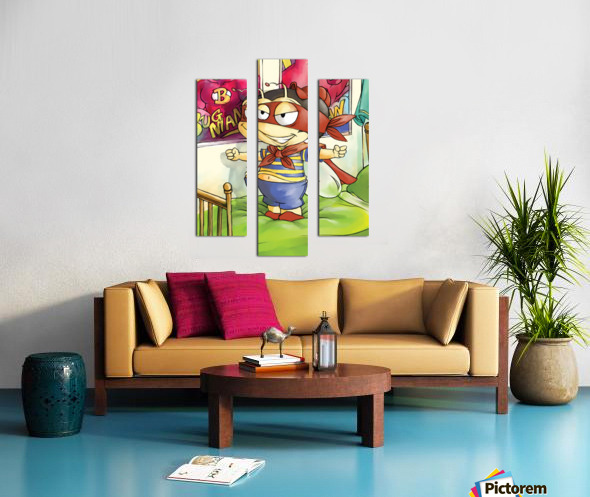 Its Super Buster to the Rescue Canvas print