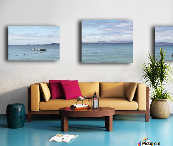 Panorama of Pontoon and Fuerteventura Canvas print
