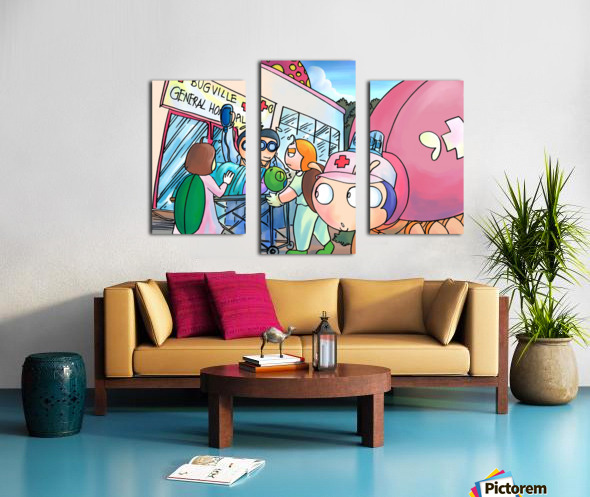 At the General Hospital - Places in Bugville Collection 4 of 4 Canvas print