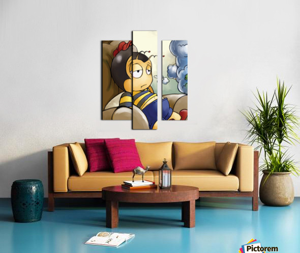 Exhausted - Thoughts on a Long Day - Buster Bee Canvas print