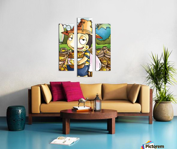 Honey Trouble for  Buster Bee Canvas print