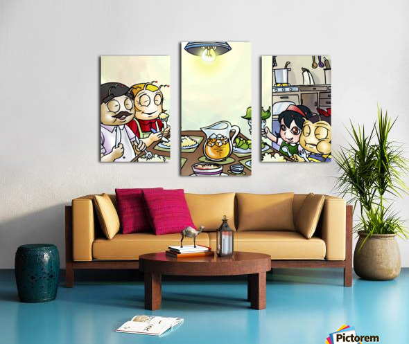 Dinner Time at the Bee House with the Family Canvas print