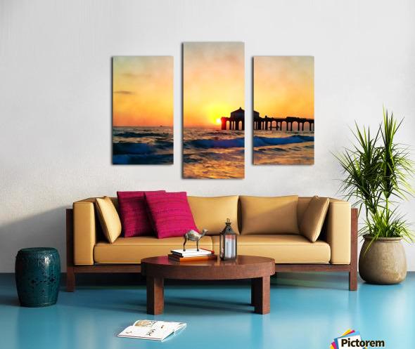 manhattan beach sunset wall art Canvas print