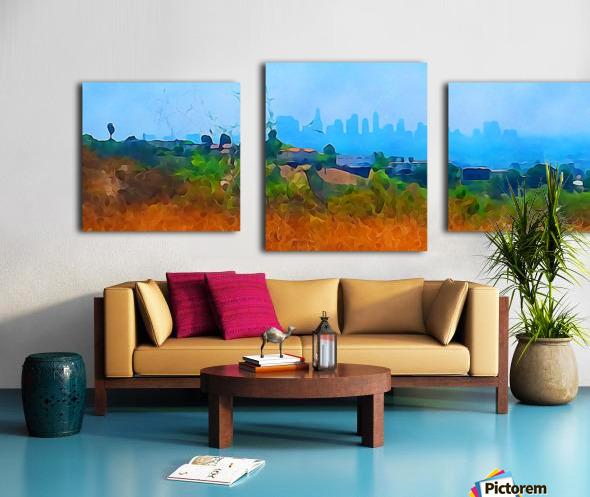 los angeles skyline art Canvas print
