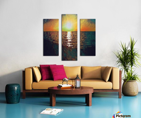 sunset art Canvas print