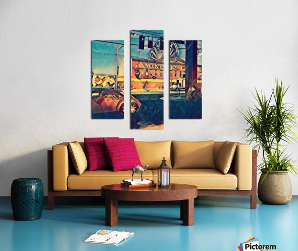 seattle great wheel art Canvas print