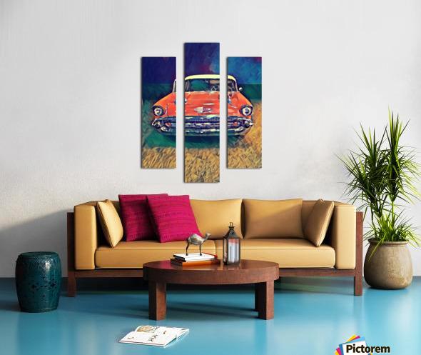 57 chevy car art Canvas print