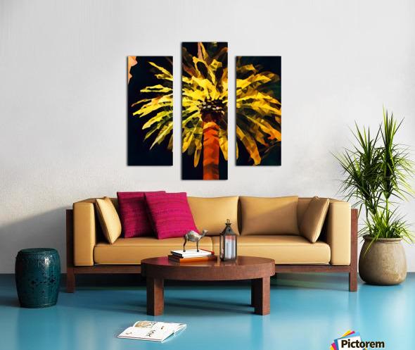 las vegas palm tree at night Canvas print