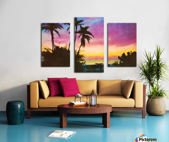 gulf of mexico sunset art Canvas print