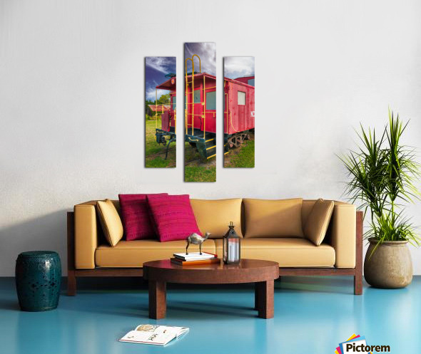 Caboose Canvas print