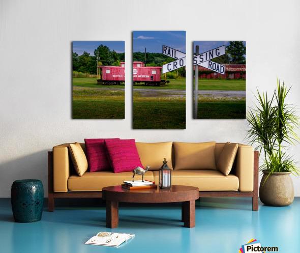Rail Car in Exmore VA Canvas print