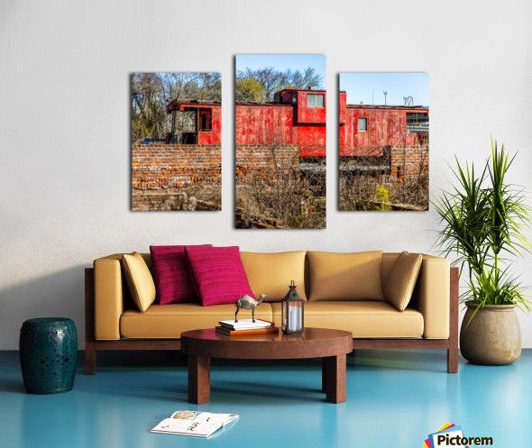 Rail Car in Petersburg VA Canvas print
