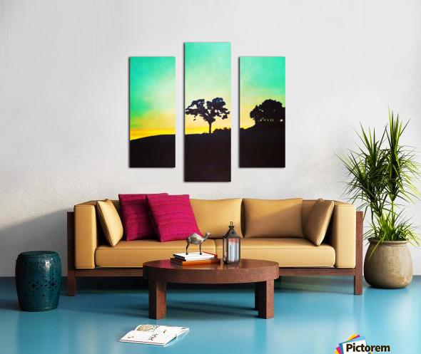 hill tree Canvas print