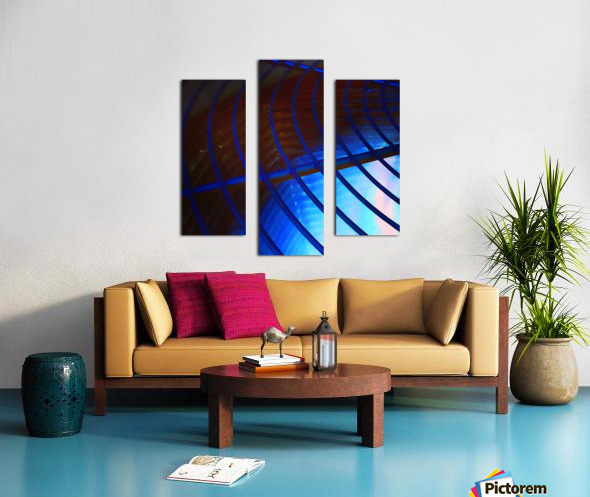 abstract blue curved lines Canvas print