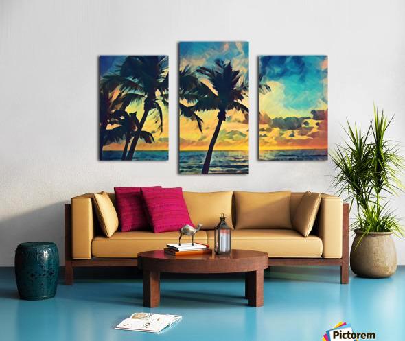 florida palm trees art Canvas print