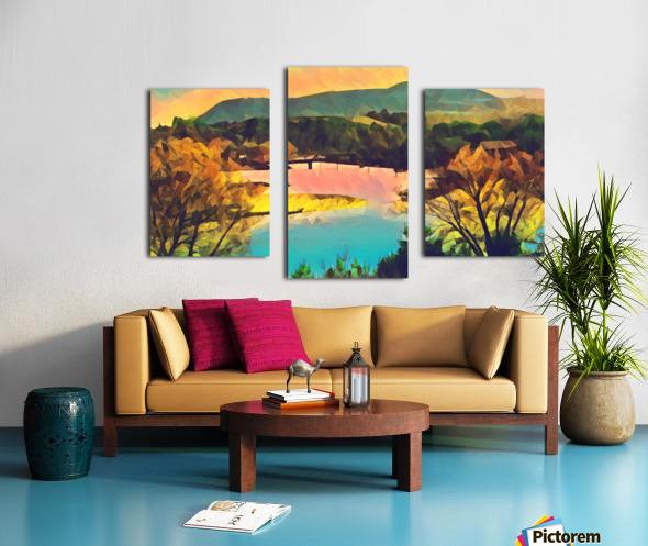 housatonic river monument mountain stockbridge mass Canvas print