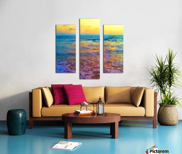 Yellow Sky at Manhattan Beach Canvas print