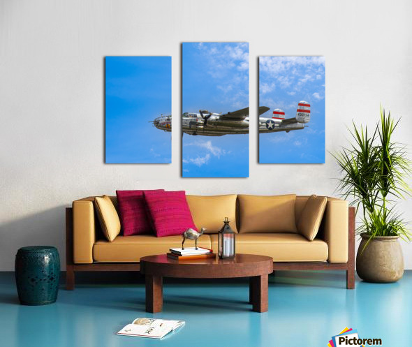 Panchito B25 In Flight Canvas print
