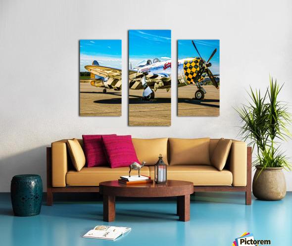 P 47D Thunderbolt Canvas print