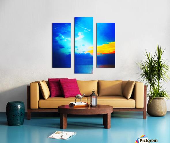 blue yellow magic Canvas print