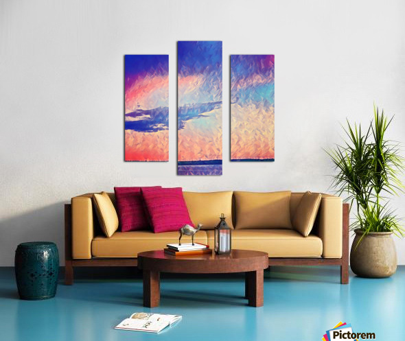 Pink Purple & Peach Canvas print