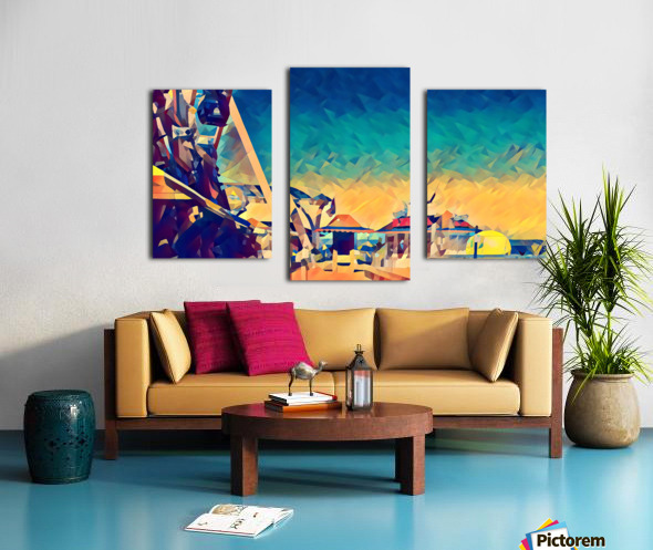 getting onto the great wheel Canvas print