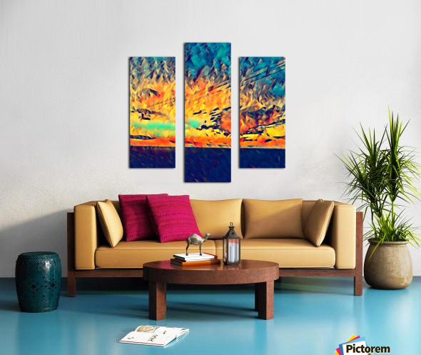 sky wires Canvas print