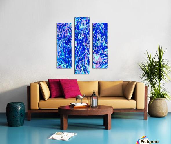 Purple Camo Canvas print