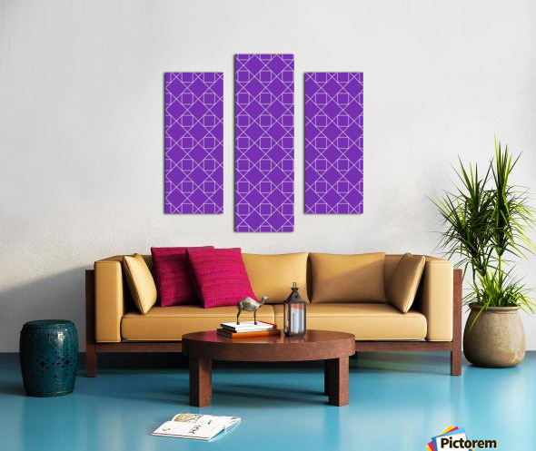 Purple Squares And Diamonds Pattern Canvas print