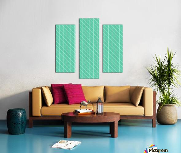 Aquamarine Checkers Pattern Canvas print