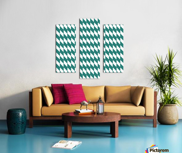 Dark Green Checkers Pattern Canvas print