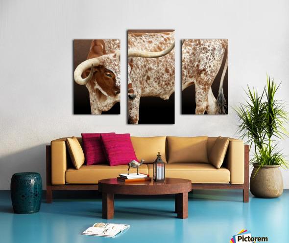 Longhorn Steer Profile 7x5 Canvas print