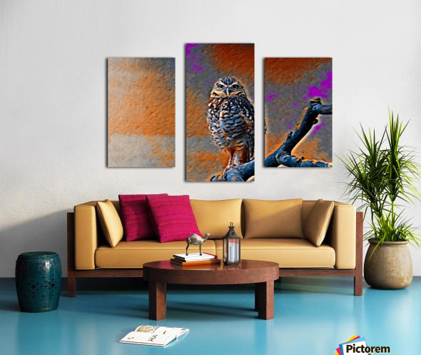 OWL - Stylized Canvas print