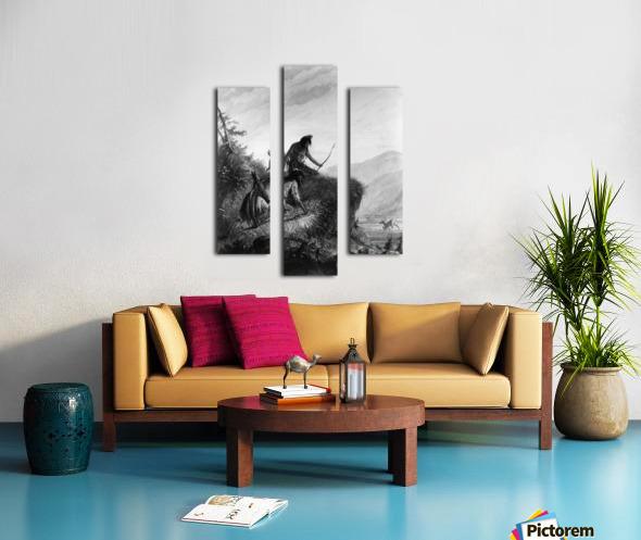 Snake Indians Shooting Elk Canvas print