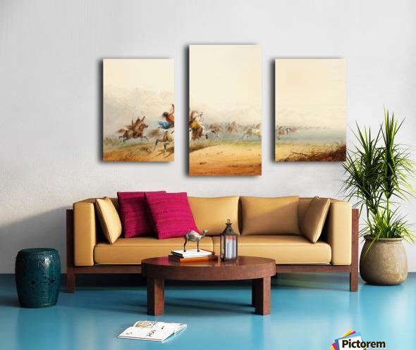 Lassoing Horses Canvas print