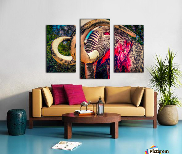 Wooly Mamoth Canvas print